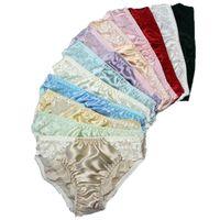 Wholesale 10PCS Women s 100% Silk panties Briefs Lace bikinis underwear  panty Solid Size  M L XL XXL f021ba993