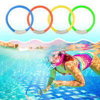 4Pcs / Set Underwater Colourful Ring Ring Baby Bambini Sport Toys Ginnastica Training Child Recognition Fun Toy Tool SS11