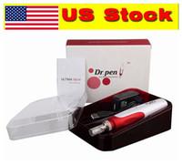 米国在庫! N2W充電式DR.PEN Derma Pen Auto電気マイクロニードルローラーシステム調整可能な針の長さ0.25mm-2.5mmのアンチニキビスポット
