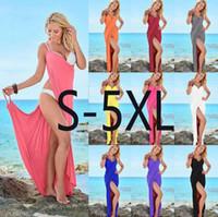 Sommer Swim Kleid Bikini Wraps Sexy Frauen Lady Verband Sleeveless Abendgesellschaft Cocktail Langes Kleid Strandkleid OOA4329