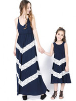 Lace Mother and Daughter Matching Dress 2018 Summer Cotton L...