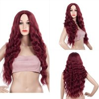 Long Corn Wave Wig Median Hairstyle Long Wavy Wigs With Natu...