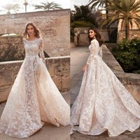 Vintage Naviblue 2019 Dolly Wedding Dress Illusion Sexy Long...