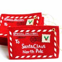 Для Санта-Клауса Северный полюс Рождественский конверт кулон дерево аксессуары Рождественский небольшой подарок конфеты сумки главная партия Xmas декор бесплатная доставка