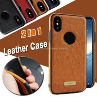 Business Leather Stitching Anti- drop Soft Silicone Shockproo...