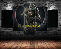 Doomguy Quake Champions , 5 Pieces Home Decor HD Printed Mode...