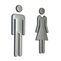 Acrylic Toilet Symbol Adhesive Backed Men' s and Women&#...