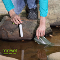 applicazione di escursionisti bottiglia di acqua potabile purificatore miniwell