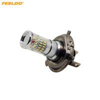 Feeldo 2 قطع 12 فولت dc سيارة رائعة برايت الأبيض h4 / 9003 / hb2 48smd 3014 الضباب led أضواء لمبة مصباح # 4776