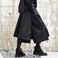 Hombres Streetwear estilo Japón Pantalón Kimono para hombre Moda Casual  Harem Pantalón de pierna ancha Falda b8d96c0ffb0