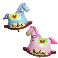New Style Cute small balloons wooden Cute horse balloon Alum...