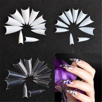 500PCS Long Sharp Stiletto French False Nail Art Tips for Ac...