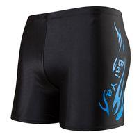 Pantalones cortos de natación de la marca de hombre traje de baño de carreras Hombre bañadores de natación Briefs traje de baño transpirable Hombres pantalones cortos de la Junta de boxeador