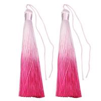 XINYAO 4 teile / los Neue Boho Multi-Farben Handgemachte Dekorative Baumwolle Seide Quasten Fringe Craft Tassles für Schmuck Machen Materialien