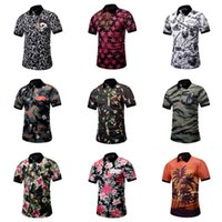 Summer Short Men Shirt Camouflage Designer 3D Printing Men  ...
