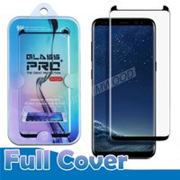 Case friendly 3d curvo vidro temperado para samsung galaxy s9 nota 8 9 s8 mais s7 edge iphone x 7/8 protetor de tela