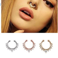 Compre Moda Fake Septum Medical Titanium Nariz Anillo Studs Piercing