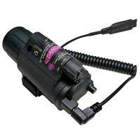 Combi tattici a luce fissa Cree LED / LIGHT + Laser rosso / mirino a fuoco fisso per caccia all'aperto 2in1