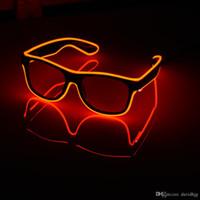 점멸 안경 EL 와이어 LED 안경 빛나는 파티 용품 조명 참신 선물 밝은 빛 축제 파티 글로 선글라스