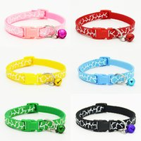 Adjustable Dog Collars Pet Collars With Bells Charm Necklace...