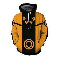 Erkekler Ve Kadınlar 3D Anime Hoodies Kazak Karikatür Karakterler Uzumaki Naruto Hoodies Erkek Casual Kapşonlu Coat Genç Eşofman