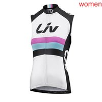 2021 Liv Team Cycling Jersey Gilet Estate Summer Quick-Dry Self Syless Camicia Bicycle Mountain Bike Abbigliamento da corsa Top Sport Uniform Y21020801