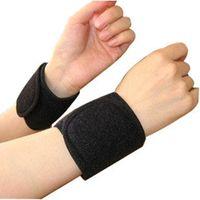 1 쌍의 건강 관리 전기석 자체 가열 손목 받침대 밴드 지원 원적외선 자기 치료 패드 보조기 압력 커프스