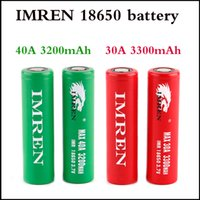 Chaud Irmen 18650 batterie 3200 mAh 40A 3300 mAh 30A Haute Drain Batteries Rechargable Batterie Au Lithium Pour Cigarette Électronique mod 100 W 220 W