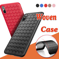 Woven Leather Case Strips Weave Natural New Soft TPU Shockpr...
