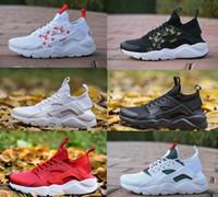 new styles 38bb1 16702 supreme Nike air Venta al por mayor Zapatos para correr Huarache Hombres  mujeres Triple Blanco Negro