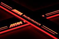방수 아크릴 이동 LED 환영 페달 자동차 스커프 플레이트 페달 도어 sill 통로 빛 BMW F10 F18에 대 한 2010-2015