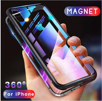 Magnetic Adsorption Flip Case for iPhone X 8 Plus 7 6 6S Tem...