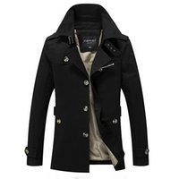 Man autumn winter fashion leisure Boutique trench coat male ...