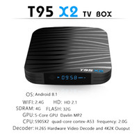Android 8. 1 TV Box T95X2 Amlogic S905X2 4GB 32GB 2. 4G Wifi H...
