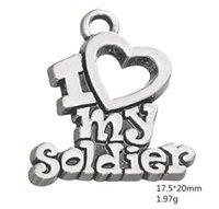 Я люблю своих солдат военные серии Word Charms другие индивидуальные украшения