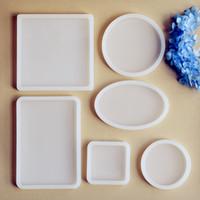 Kare Yuvarlak Oval dikdörtgen Scrapbooking Silikon Kalıp için Reçine Silikon Kalıp el yapımı DIY epoksi reçine döküm kalıpları