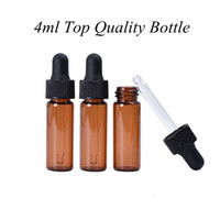 Yeni Arriveal 4 ml Kırmızı-Amber Cam Damlalık Şişe En Kaliteli Uçucu Yağ Şişesi Ekran Şişeler Küçük Serum Parfüm Örnek Testi Şişe
