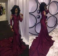 2018 Fashion Women Wine Red Prom Dress Sexy South African Go...