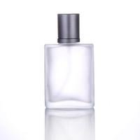 Venda quente 200 pçs / lote Vazio Recarregáveis Portátil Perfume Atomizador De Vidro Spray Transparente Fosco Perfume Garrafas 50 ml Com Bico
