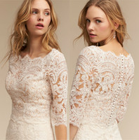 Lace Mermaid Wedding Dress 2018 BHLDN Bohemian Bridal Gowns ...