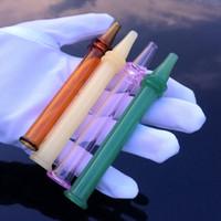 2018 nuovo mini nector collettore colorato penna stile nector collettori tubo dritto pyrex vetro bruciatore di olio tubi accessori da fumo da tavolino