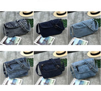 50pcs Women Retro Persoanl Demin Flap Cover Cross body Bag 6...