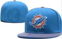 National Team Fitted Dolphins hats Baseball Embroidered Team...