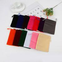 100 stücke 5x7cm Multicolor Samt Kordelzug Taschen Beutel Schmuck Weiche Fit Für kleine Lagerung