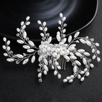 Newest White Peals Austrian Crystal Hair Combs Wedding Women...