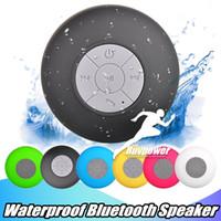 Pour Samsung S20 S10 IPX4 mains-libres douche haut-parleurs étanches Wirelesss Mini Haut-parleur Bluetooth Tous les périphériques pour ordinateur portable Salle de bains Piscine Utilisation de bateaux