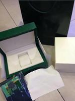 고품질 시계 액세서리 녹색 브랜드 시계 원래 상자 논문 핸드백 선물 상자 116610 116660 116710 시계 상자