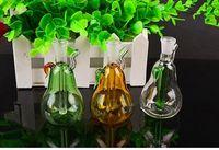 Mini Birne Shisha Großhandel Glas Bongs Ölbrenner Glas Wasserleitungen Öl Rigs Rauchen frei