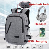 2018 fashion computer backpacks Outdoor travel bags USB char...