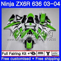 Body green new For KAWASAKI NINJA ZX- 636 ZX600 ZX636 ZX- 6R 0...